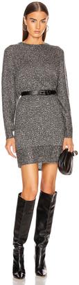 Frame Sequin Sweater Dress in Smoke Heather | FWRD