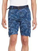 ProjekRaw Printed Drawstring Cuff Shorts