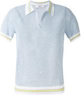 Blugirl short-sleeve collar jumper - women - Cotton/Polyamide - 40