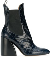 Chloé Wave 90 embossed ankle boots