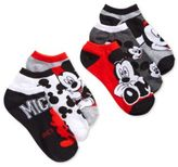 Disney Women's Mickey Mouse Stripes No Show 6-Pk. Socks