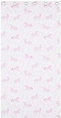 Catherine Lansfield Folk Unicorn Lined Curtains