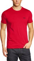 HUGO BOSS BOSS Green Men's Modern Fit Basic Single Jersey T-Shirt (L, Dark Grey)