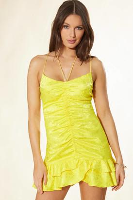 For Love & Lemons Fiji Cami Dress Yellow L