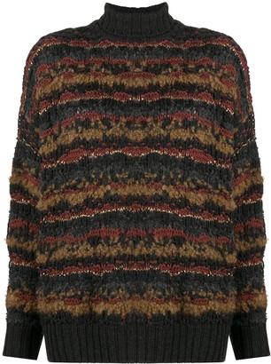 Gentry Portofino Striped Chunky Knit Jumper