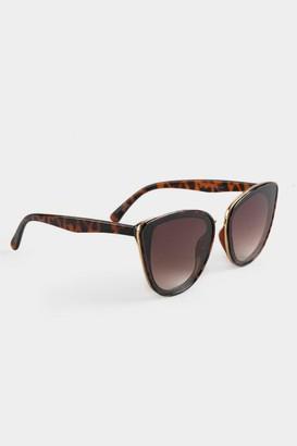 francesca's Layla Tortoise Cat Eye Sunglasses - Tortoise