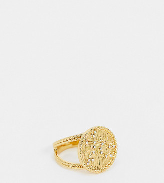 Reclaimed Vintage inspired hydra constellation ring in 14k gold plate