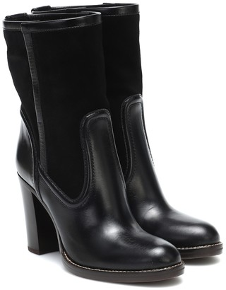 Chloé Leather and suede ankle boots