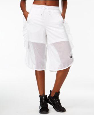 Puma Xtreme Ruffled Mesh Shorts