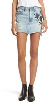 Rag & Bone Women's Dive Embroidered Denim Miniskirt