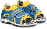 Roberto Cavalli touch strap sandals - kids - Leather/Pig Leather/rubber - 25
