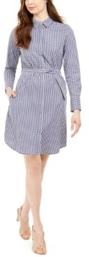 Calvin Klein Gingham Shirtdress
