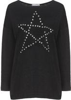 Miss Y by Yoek Plus Size Star embellishment top