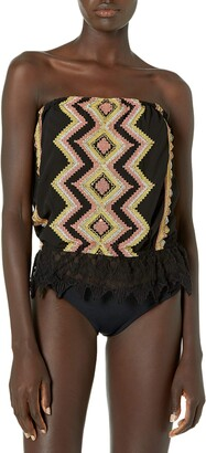 Ramy Brook Women's Alia Embroidered Tube Top Coverup