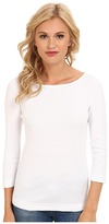 Three Dots 3/4 Sleeve British Tee Women's Long Sleeve Pullover