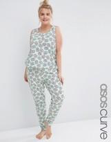 Asos Pretzel Print Tank & Legging Pajama Set