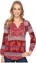 Lucky Brand Printed Knit Top Women's Clothing