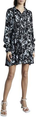 Proenza Schouler White Label Printed Georgette Babydoll Dress