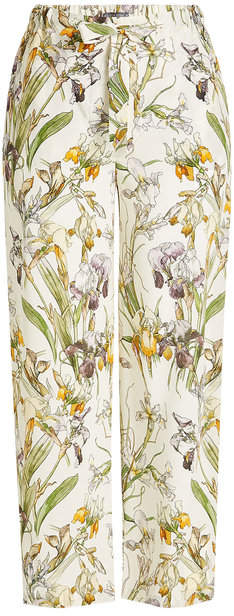 Alexander McQueen Printed Silk Pants