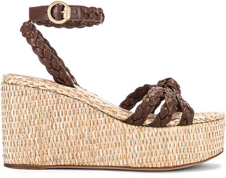 Gianvito Rossi Ankle Strap Platform Espadrille in Texas & Natural | FWRD