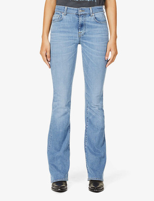 7 For All Mankind Bootcut Kind to the Planet flared high-rise jeans