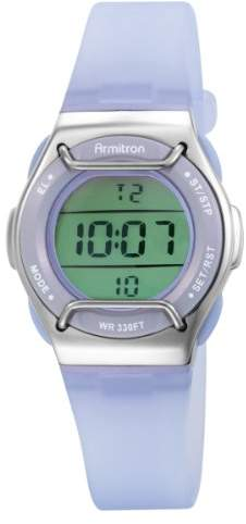Armitron Sport Women's 457000LAV Chronograph Lavender Strap Digital Watch