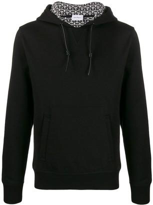 Salvatore Ferragamo Gancini lining hoodie