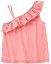 Crazy 8 One-Shoulder Ruffle Tank