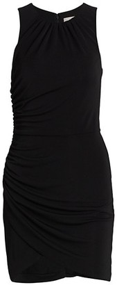 Cinq à Sept Brodie Matte Jersey Ruched Sheath Dress