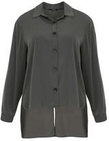 MAT FASHION Plain Long-Sleeved Shirt with Polo Shirt Collar