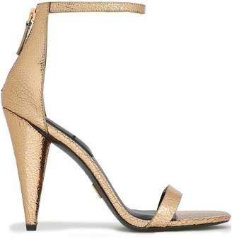 Michael Kors Metallic Cracked-leather Sandals