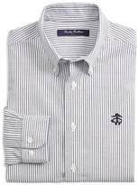 Brooks Brothers Boys' Non-Iron Club-Stripe Shirt - Big Kid
