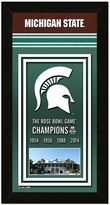 "Michigan State Spartans Rose Bowl Champions 4.5"" x 27.5"" Framed Banner"