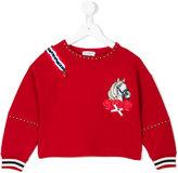 MonnaLisa embroidered horse sweatshirt