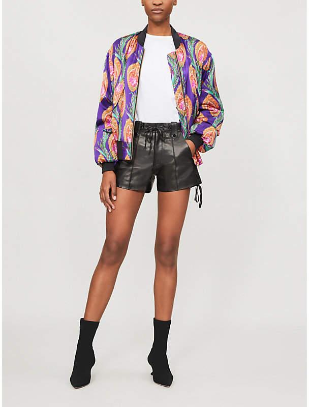 40a4881bc Floral-print Satin Jacket - ShopStyle UK