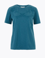 Per Una UsMarks and Spencer Pure Cotton Embroidered T-Shirt