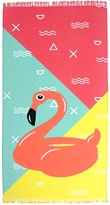 "Sunnylife Moda At Home Flamingo Float Fringed Rectangular Beach Towel - 40"" x 70"""