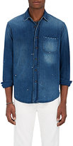 Simon Miller Men's Delery Distressed Denim Shirt