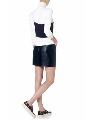 J.W.Anderson Navy Leather Mini Skirt