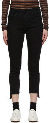 Rag & Bone Black Nina Cropped Jeans
