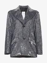 Ashish striped sequin embellished blazer