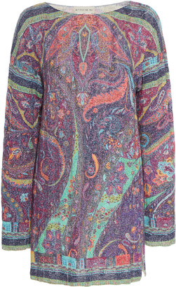 Etro Paisley Stretch-Knit Wool-Blend Tunic