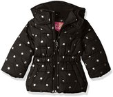 Pink Platinum Girls' Infant Printed Foil Star Puffer Jacket