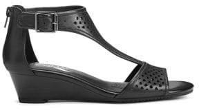 Aerosoles Sapphire Leather Wedge Sandals