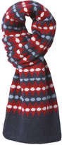 Joe Fresh Men's Jacquard Winter Scarf, Red (Size O/S)