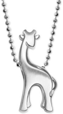 Alex Woo Giraffe Pendant Necklace in Sterling Silver