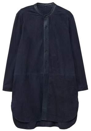 MANGO Trims leather coat