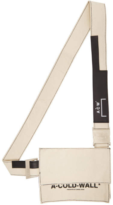 A-Cold-Wall* A Cold Wall* Beige Canvas Utility Pouch