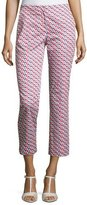 Armani Collezioni Mosaic-Print Slim-Fit Cropped Pants, Multicolor