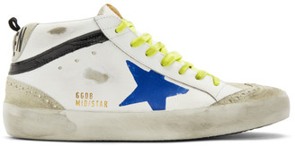Golden Goose White Wingtip Mid Star Sneakers